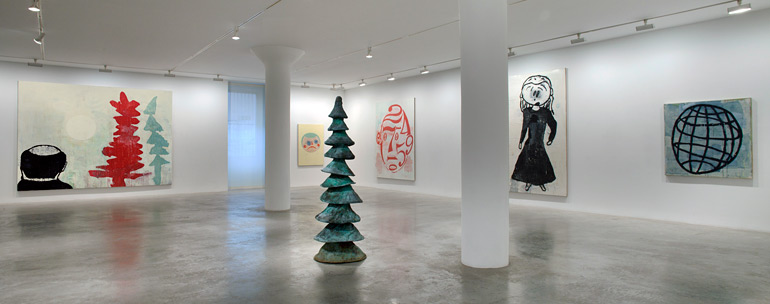 Donald Baechler: Painting & Sculpture, 1st floor installation view, 2012