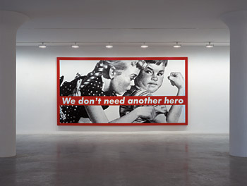 Barbara Kruger, Untitled (We don't need another hero), 1987