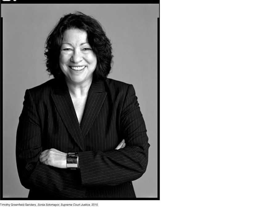 Timothy Greenfield-Sanders, Sonia Sotomayor, Supreme Court Justice, 2010