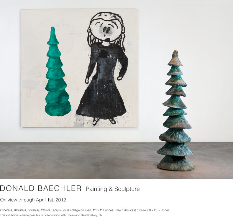 Donald Baechler, Painting & Sculpture. On view through April 1st, 2012