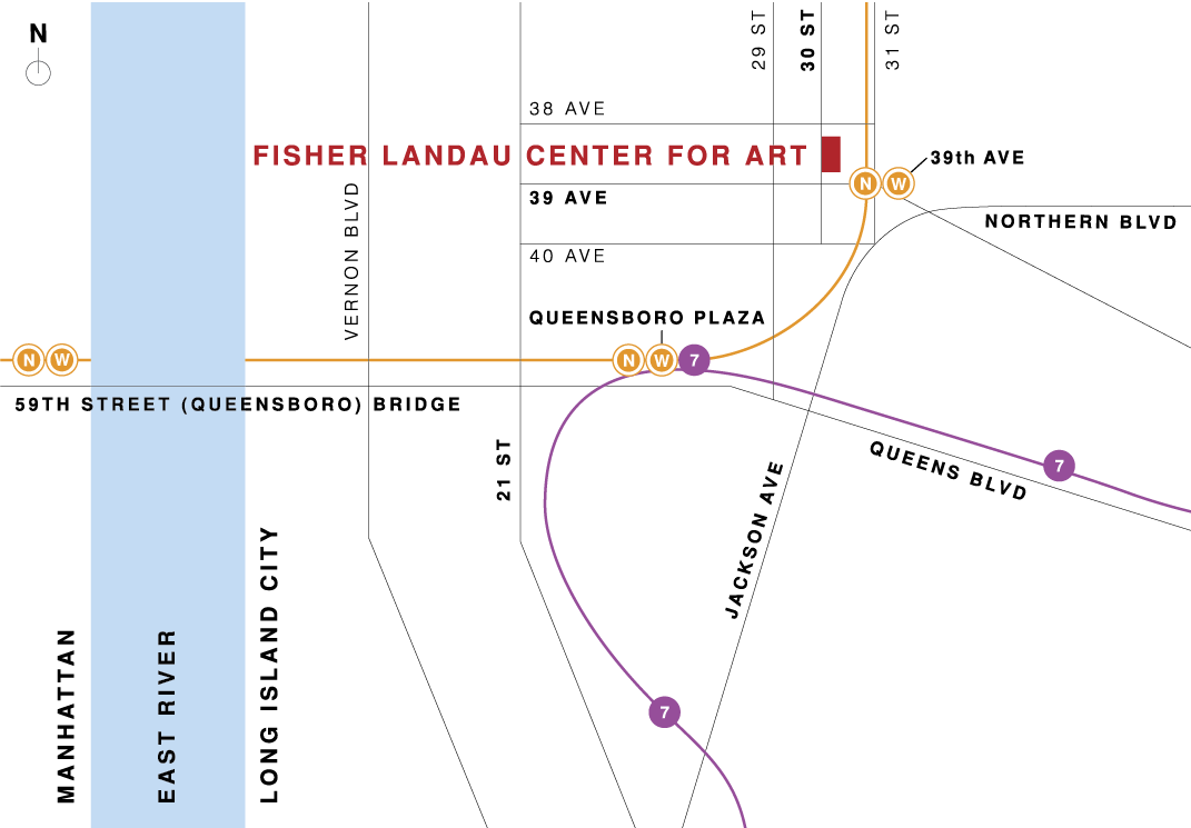 map of the Fisher Landau Center for Art